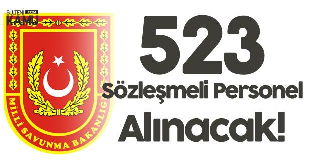 Milli Savunma Bakanlığı 523 Sözleşmeli Personel Alımı Yapacak! Başvurular Devam Ediyor