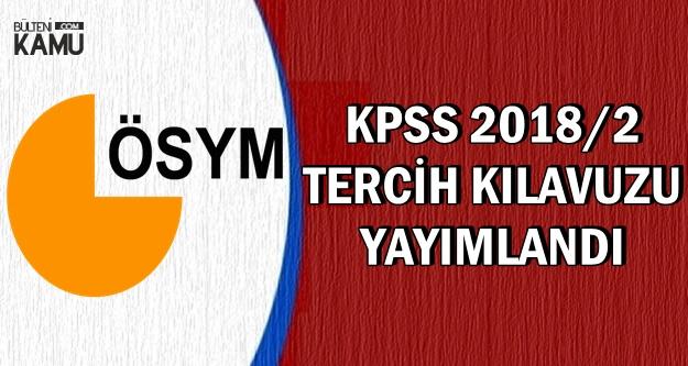 ÖSYM, KPSS 2018/2 Tercih Kılavuzu-Yayımlandı (Memur Kadroları-Nitelik Kodları)