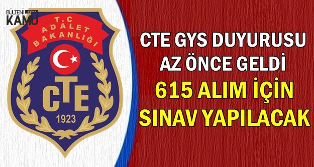 Sınav Duyurusu Geldi: CTE GYS ile 615 Alım Yapacak