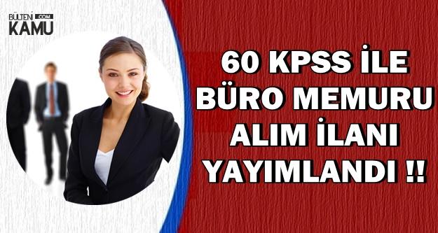 Sultanbeyli SYDV 60 KPSS ile Büro Memuru Alımı Yapıyor
