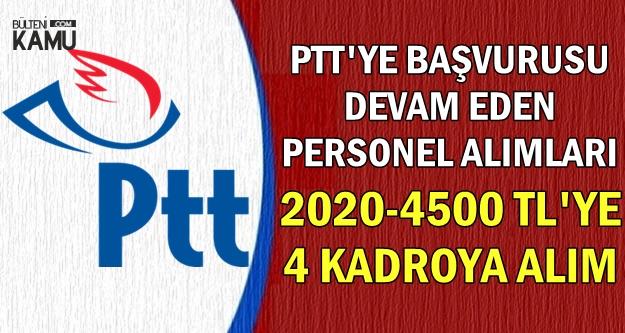 PTT 4 Kadroya Personel Alımı KPSS Şartsız 2019