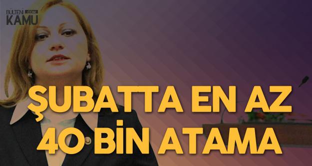 Burcu Köksal: Öğretmenler Şubatta 40 Bin Atama Bekliyor