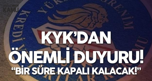 Gençlik ve Spor Bakanlığı Kredi ve Yurtlar Kurumu'ndan (KYK) e-Devlet Burs Açıklaması