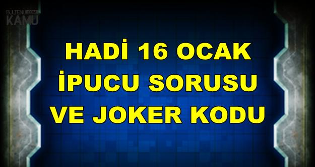 Hadi 16 Ocak İpucu Sorusu ve Joker Kodu: İçinde Kahve Dövülen Büyük Havan