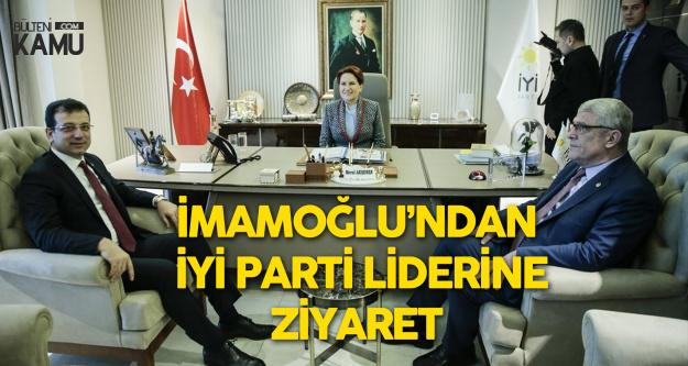 İYİ Parti Lideri Meral Akşener , Ekrem İmamoğlu'nu Makamında Kabul Etti
