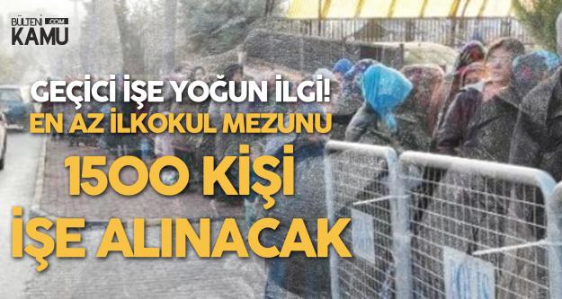 Kilis'te İŞKUR Üzerinden En Az İlkokul Mezunu 1500 Kişi İşe Alınacak