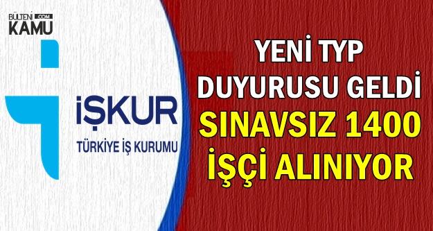 MEB ve Belediye'ye 1400 Yeni İşçi Alımı-İŞKUR TYP İlanları