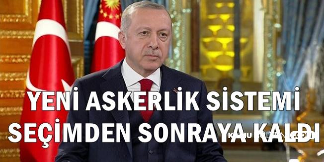 Cumhurbaşkanı Erdoğan: Yeni Askerlik Sistemi Seçimden Sonraya Kaldı