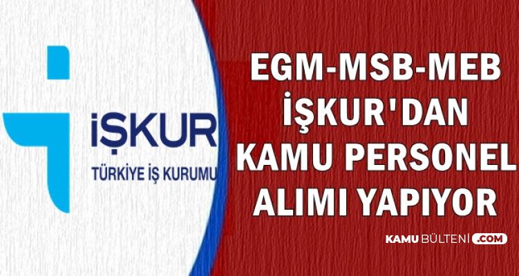 EGM-MSB-MEB Kamu Personeli Alımı İlanı Yayımladı-İşte Başvuru Adımları