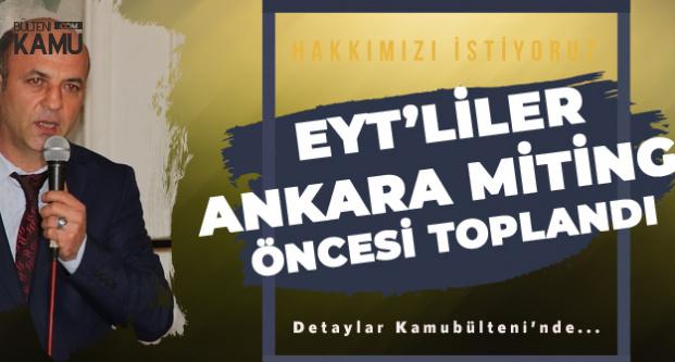 Emeklilikte Yaşa Takılanlar Ankara Mitingi Öncesi Kırşehir'de Bir Araya Geldi
