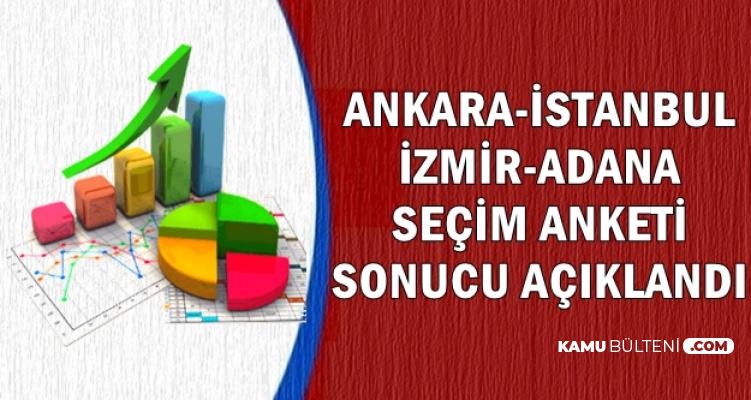 İstanbul-Ankara-İzmir ve Adana Seçim Anketi Sonucu Açıklandı