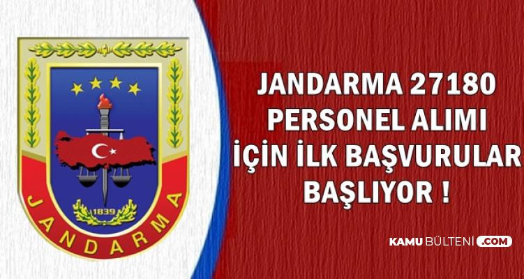 Jandarma 27180 Personel Alımında İlk Başvuru Başlıyor (Kadın-Erkek Astsubay-JÖH Alımı)