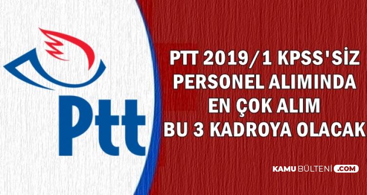 PTT Personel Alımı Kadroları-En Çok Alım Bu Kadrolara
