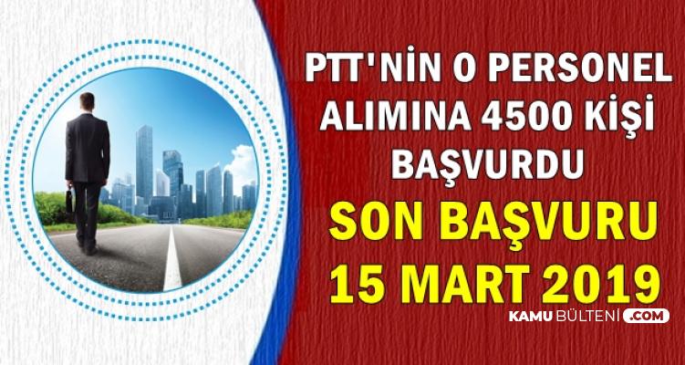 PTT'nin O Personel Alımına 4500 Kişi Başvurdu: Son Başvuru Tarihi Açıklandı