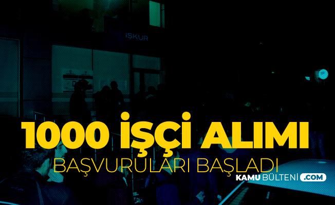 TTK 1000 İşçi Alımı için Başvuru Kuyruğu Geceden Başladı