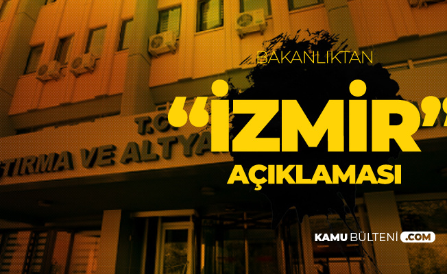 Ulaştırma ve Altyapı Bakanlığı'ndan 'İzmir' Açıklaması