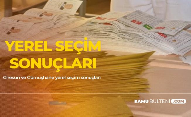 31 Mart 2019 Giresun ve Gümüşhane Yerel Seçim Sonuçları