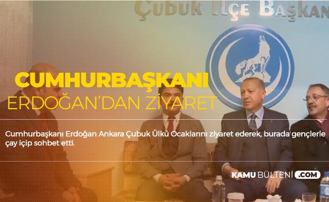 Cumhurbaşkanı Erdoğan'dan Ülkü Ocaklarına Ziyaret