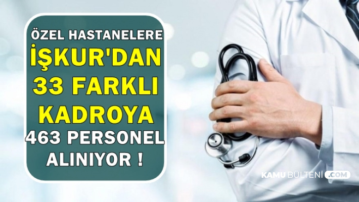 Hastanelere İŞKUR'dan 463 Personel Alımı-İŞKUR'dan 33 Kadroya