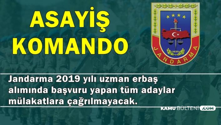 Jandarma Komando-Asayiş Uzman Erbaş Alımına Başvuranlar Dikkat! (JÖH)