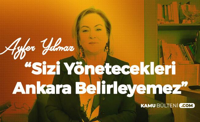 Mersin Büyükşehir Belediye Başkan Adayı Ayfer Yılmaz: Sizi Yönetecekleri Ankara Belirleyemez
