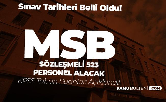 MSB Sözleşmeli Personel Alımı KPSS Taban Puanları Açıklandı! - Sözlü Sınav Tarihleri