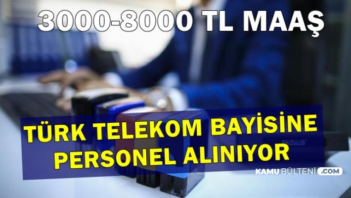 3-8 Bin TL Maaşla Türk Telekom Bayisine İŞKUR'dan Personel Alımı
