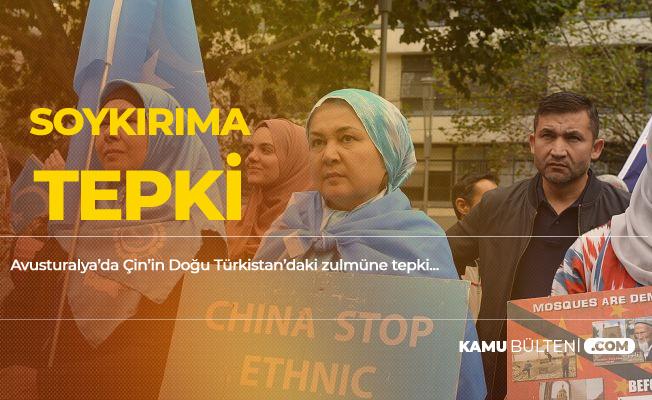 Avustralya'da Doğu Türkistan'daki Soykırıma Tepki! Uygur Türkleri Serbest Bırakılsın