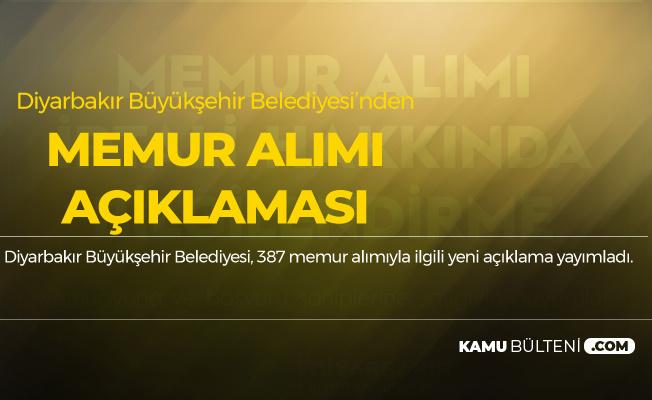 Diyarbakır Büyükşehir Belediyesi Memur Alımı ile İlgili Flaş Açıklama!