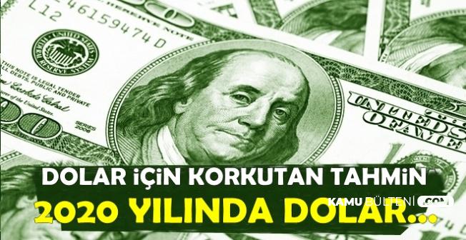 Dolar/TL İçin Korkutan Tahmin: 2020 Yılında Dolar Kuru..