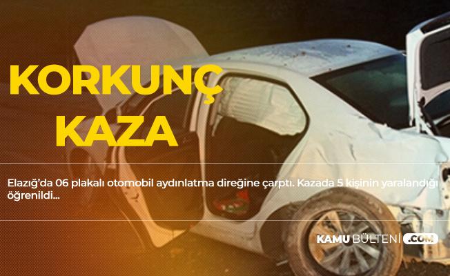 Elazığ'da Korkunç Kaza! 5 Kişi Yaralandı
