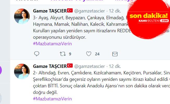 Gamze Taşçıer: Anadolu Ajansı'nın Son Dakika Haberi Yalan!