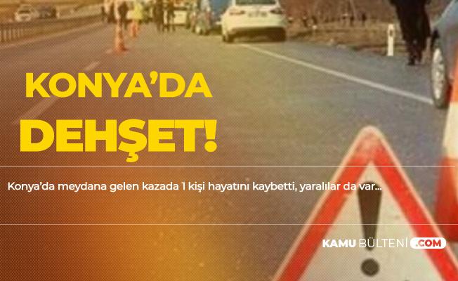 Konya'da Otomobil Pikaba Çarptı! 1 Ölü, 5 Yaralı