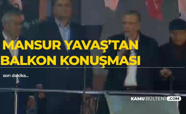 Mansur Yavaş'tan Zafer Konuşması!
