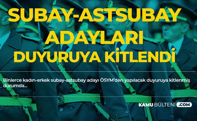 Subay ve Astsubay Olmak İsteyen Gençler 2019 MSÜ Sınav Sonuçları Açıklanıyor