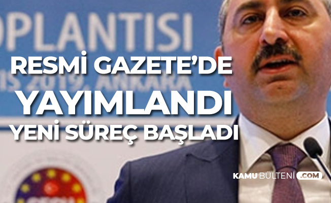Adalet Bakanı Gül Açıkladı! Hakim Savcı Eğitiminde Yeni Süreç Başladı
