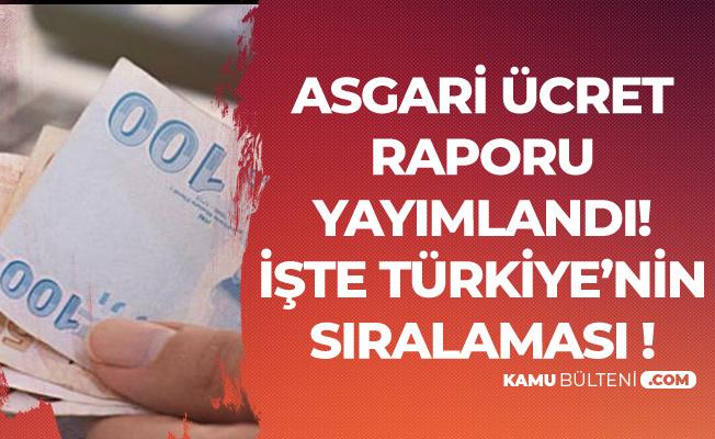 CHP'den Türkiye'deki 'Asgari Ücret ' Raporu -  Ülke Sıralamasında Türkiye Kaçıncı Sırada?