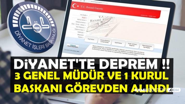 Diyanet'te Deprem: Erdoğan O İsimleri Görevden Aldı