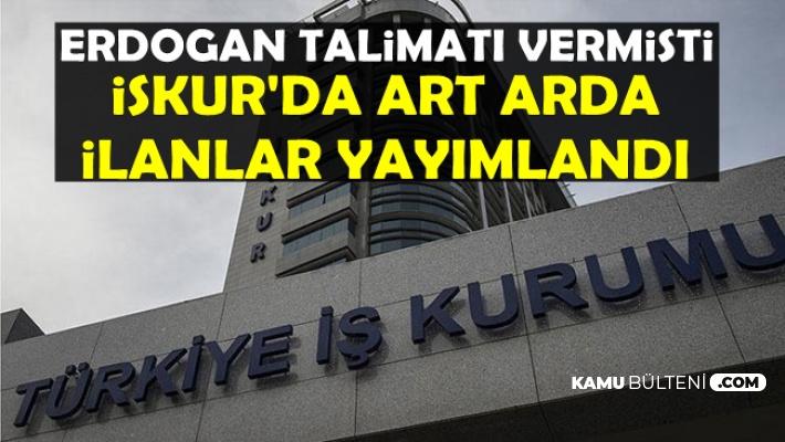 Erdoğan'ın Talimatı Sonrası İŞKUR'da Memur Personel Alımı İlanları Yayımlandı