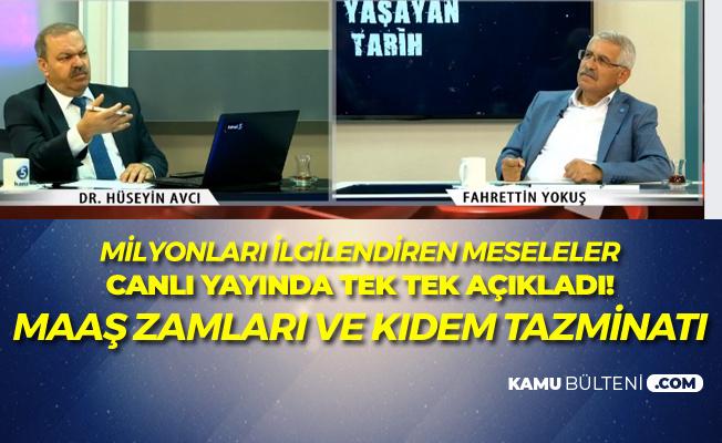 Fahrettin Yokuş Canlı Yayında Açıkladı! 'Taşerondan Kadroya Geçenlerin Maaş Zammı ve Kıdem Tazminatı'