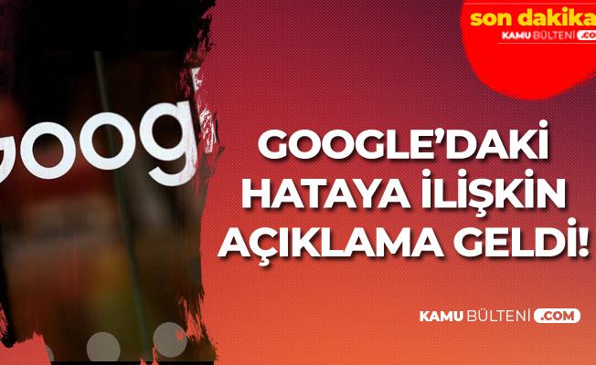 Google'da Hata! Haber Siteleri Etkilendi! Yeni Açıklama Geldi