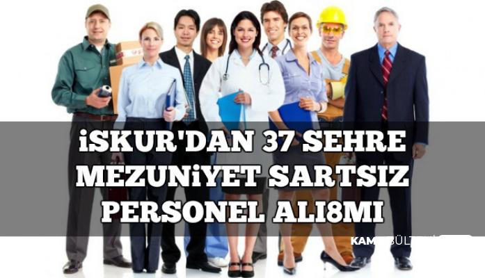 Hafta Sonu İş İlanları: Mezuniyet Şartsız 34 Şehre Personel Alımı-İŞKUR'dan