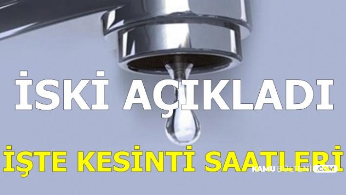 İstanbul'da Sular Ne Zaman Gelecek? İşte İSKİ Kesinti Saati
