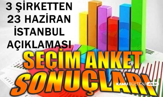İstanbul Seçimleri İçin 3 Şirketten Anket Sonucu Açıklaması