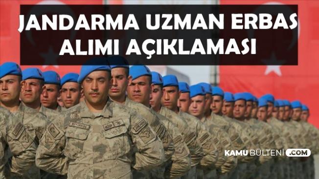 2019 Jandarma Asayiş Uzman Erbaş Alımı Açıklaması