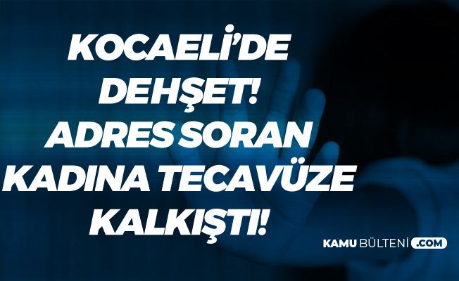 Kocaeli'de Dehşet! Kendisine Adres Soran Kadına Tecavüz Etmeye Kalktı