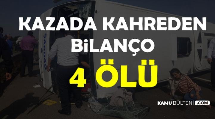 Maraş'tan Urfa'ya Giden İşçiler Kaza Yaptı: 5 Ölü, Çok Sayıda Yaralı