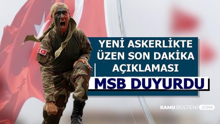 MSB Açıkladı: Tek Tip Askerlik İçin Üzen Açıklama