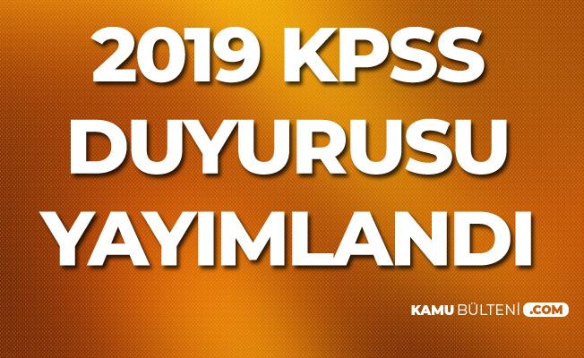 ÖSYM'den 2019 KPSS ve Başvuru Kılavuzu Duyurusu