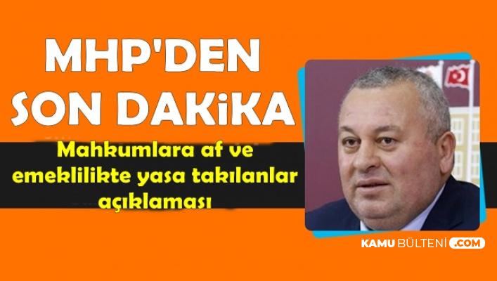 Son Dakika: MHP'den EYT ve Mahkumlara Af Açıklaması